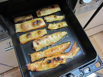 ゆう屋のふっくら焼き上げた紅鮭ハラス塩焼き+ニューマルチグリルパン→魚焼きグリル