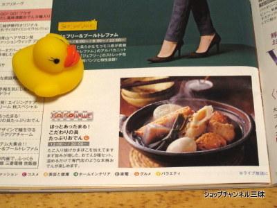 2015/10/21GGV「だしの風味満載 おでん9種入り」ショップチャンネルガイド誌10月号より