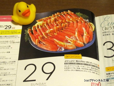 11/29SSVぷりっぷり!特大ずわいがにポーション ガイド誌より