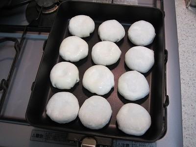 ニューマルチグリルパンでショップチャンネルの特製海老ニラ饅頭を焼く