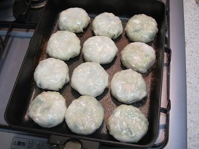 7分加熱後のショップチャンネルの特製海老ニラ饅頭