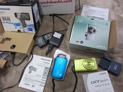 パナソニックHX-WA10デジタルムービーカメラ&キャノンIXY600F