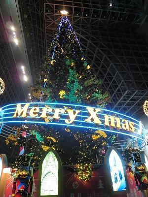 JR京都駅のクリスマスツリー2013
