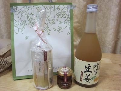 山田養蜂場のスティック蜂蜜、生姜蜂蜜(ドリンク)、くり蜂蜜