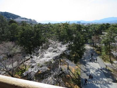南禅寺三門上から京都市内を望む2014春