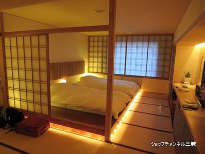 定山渓のお宿の寝室