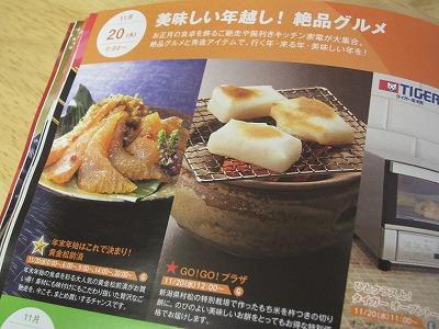 2013.11.20黄金松前漬SSV&杵つきこがねもちGGVショップチャンネルのガイド誌より