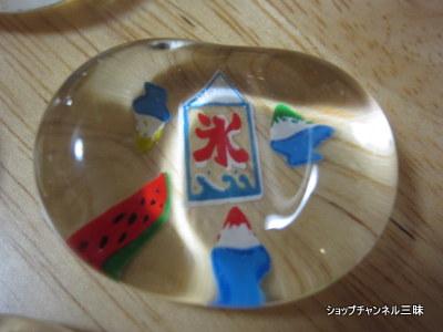 京都土産にもらったガラスの箸置き夏模様。