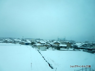 雪景色…新幹線の車窓から