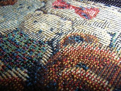 ヤマト屋ミニテディゴブラン織かぶせショルダーバッグ生地アップ