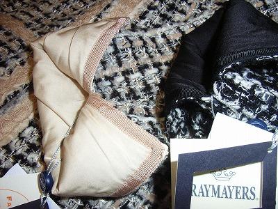 レイメイヤーズファンシーツイードジャケットの袖口