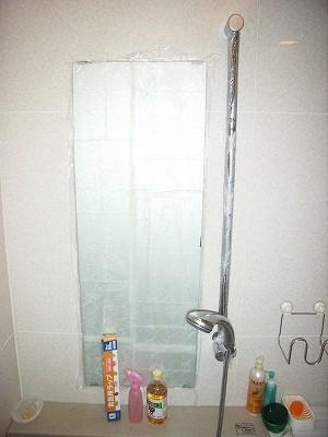 お酢で浴室鏡の鱗落とし